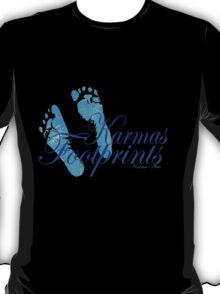 KARMAS FOOTPRINTS (BLUE) T-Shirt