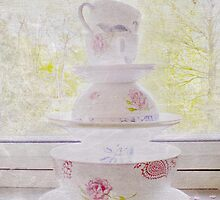 Country Vintage - Teacups by Circe Lucas