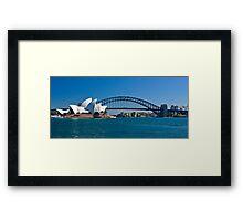 Postcard Sydney Framed Print