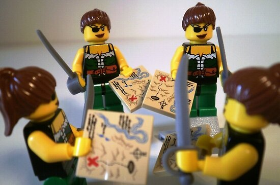 LEGO® Custom Pirate Girl Minifigure with Treasure Map, by 'Customize My Minifig' by Chillee