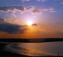 Sunset Over Ponce Inlet, Florida by BCallahan