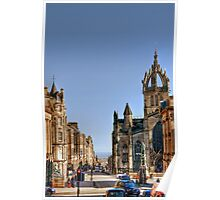 Looking Down the Royal Mile to St Giles Cathedral Poster