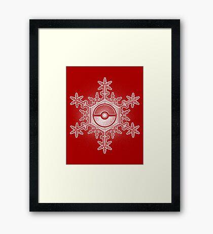 Pokeball Snowflake Framed Print