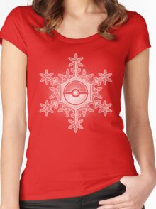 Pokeball Snowflake Women's Fitted Scoop T-Shirt
