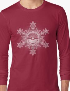 Pokeball Snowflake Long Sleeve T-Shirt
