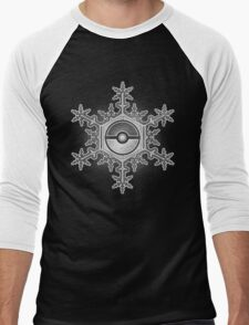 Pokeball Snowflake Men's Baseball ¾ T-Shirt