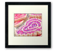 Heart Sugar Cookies Framed Print