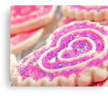 Heart Sugar Cookies Canvas Print