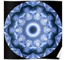 Blue Mirror Kaleidoscope 02 Poster