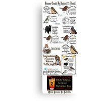 ✿⊱╮ BANNERS USED ON REDBUBBLE CREATED BY RAPTURE ✿⊱╮ Canvas Print