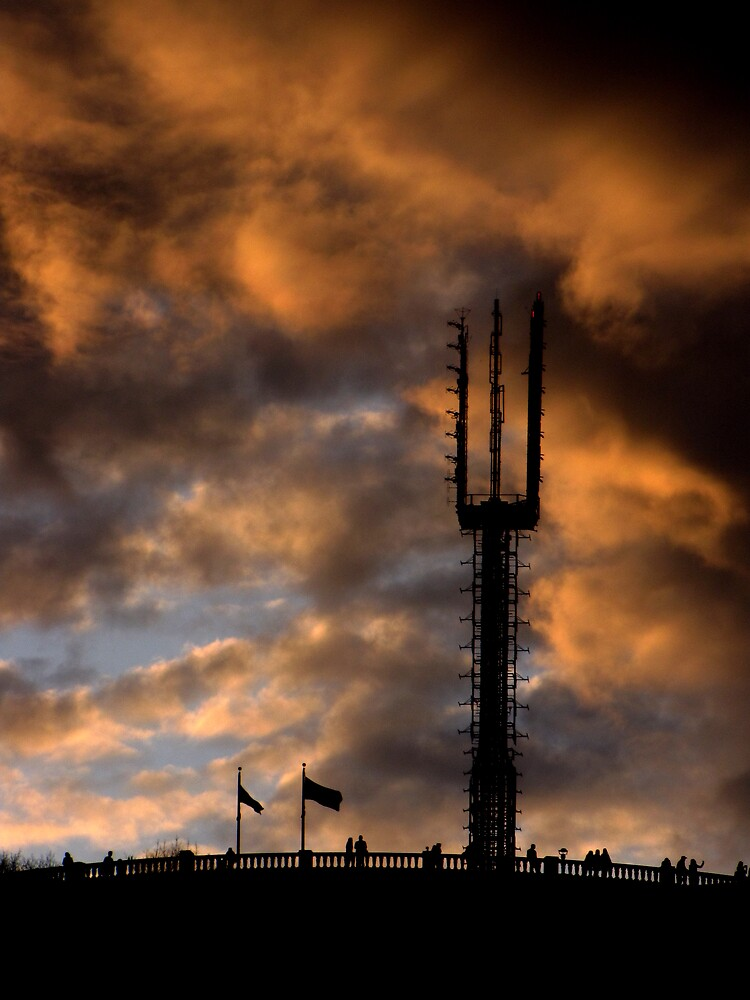 Mount Royal tower at sunset by AndreCosto