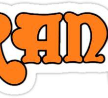 Orange  Amp Sticker
