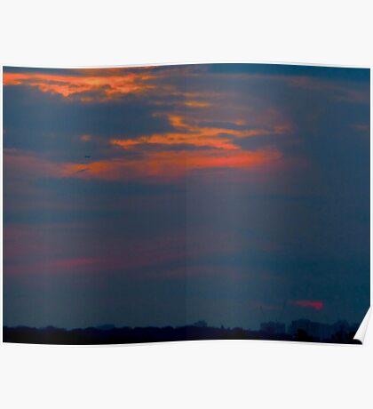 Hammock sunset Poster