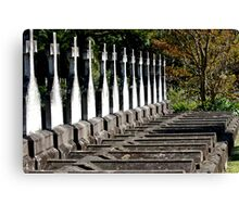 Crosses all lined up Canvas Print