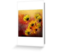red and yellow gallimaufry  Greeting Card