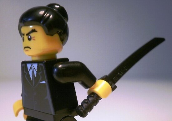 Japanese Yakuza Gokudō Gangster Custom LEGO® Minifigure, by 'Customize My Minifig' by Chillee