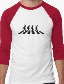 Turtle Road (Black) Men's Baseball ¾ T-Shirt
