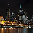 Melbourne at night by DavidsArt