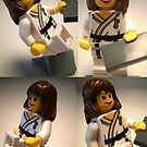 Judo Karate Martial Arts Girl Custom LEGO® Minifigure, by 'Customize My Minifig' by Chillee