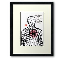 Holes and Other Empty Spaces #7 Framed Print