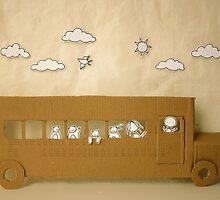 School bus by caracarmina