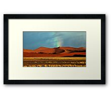 Rainbow over the Dunes Framed Print