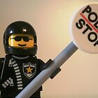 LEGO® City Classic Police Motorcycle Man Cop Minifigure & Police Stop Sign, by 'Customize My Minifig' by Chillee