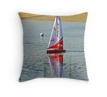 Yacht racing at Lorne Throw Pillow