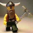 Thor Minifig Viking LEGO® Custom Minifigure with Custom Beard & Thunder Hammer, by 'Customize My Minifig' by Chillee