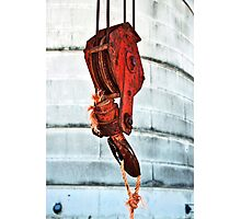 Rusted Crane Photographic Print