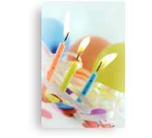 Birthday Candles Canvas Print