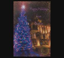 Trinity Tree – Happy Holidays from Boston Kids Tee