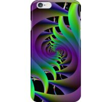 Green and Purple Spiral  iPhone Case/Skin