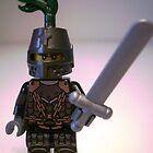 Dragon Knight with Chain Mail & Helmet with green plume, LEGO® Kingdoms Minifigure, by 'Customize My Minifig' by Chillee