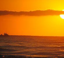 Trawler in the Dawn - Apollo Bay, Victoria by Heather Samsa