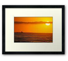 Trawler in the Dawn - Apollo Bay, Victoria Framed Print