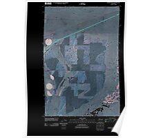 USGS Topo Map Washington State WA Karakul Hills 20110401 TM Inverted Poster
