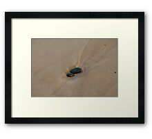 Pebbles Washed by the Ocean #2 Framed Print
