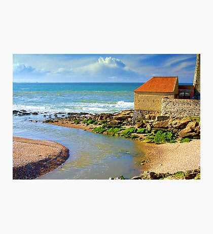 La Slack with Fort Mahon in Ambleteuse, France Photographic Print