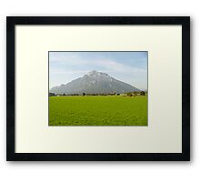 Salzburg Mountain Framed Print
