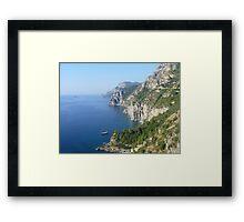 The Amalfi Coast. Framed Print