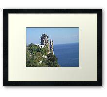 Madonna and Child rock Amalfi. Framed Print
