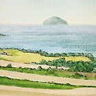 Ailsa Craig (Paddy's Milestone) - West Coast Scotland by Lynne  M Kirby BA(Hons)
