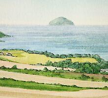 Ailsa Craig (Paddy's Milestone) - West Coast Scotland by Lynne  Kirby