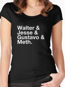 Walter & Jesse & Gustavo & Meth Women's Fitted Scoop T-Shirt