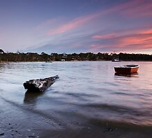 Eggs and Bacon Bay Sunset by Chris Cobern