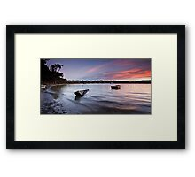Eggs and Bacon Bay Sunset Framed Print