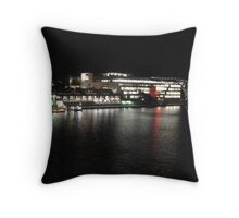 Qld State Library at night Throw Pillow