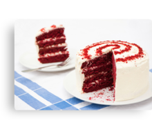 A Big Red Cake Canvas Print