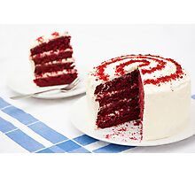 A Big Red Cake Photographic Print